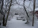 La neige au jardin