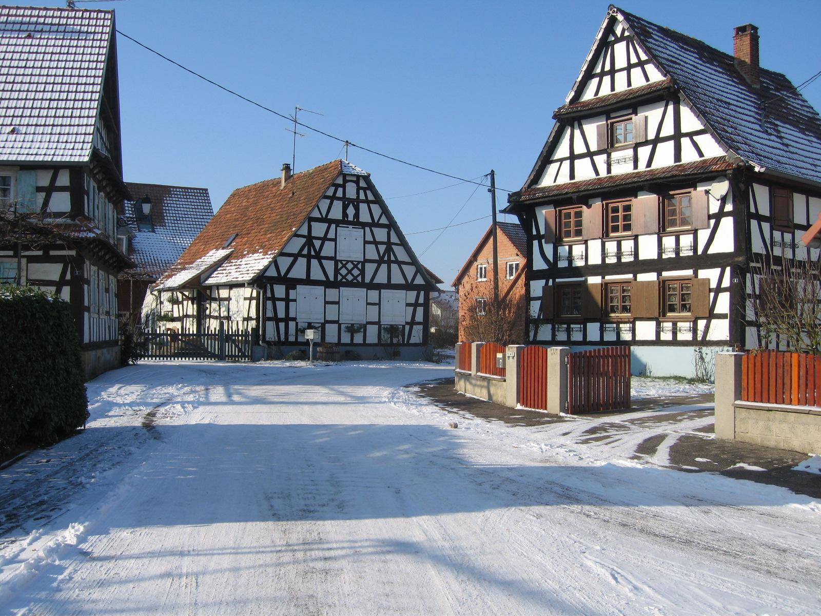 rue sous la neige