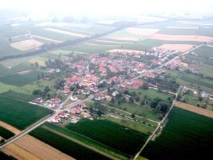 Vue du ciel en Alsace